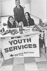 Courtesy photo &nbsp&nbsp Left to right: Red Cross Youth Emily Chau and Michael Chen of Encinal High School and Juliana Cardenas of Alameda High School provided gift wrapping services over the holidays raising $850 for local fire victims.