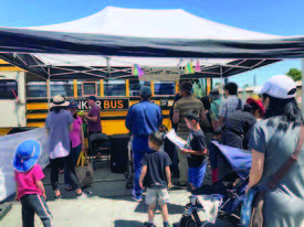 Courtesy photo &nbsp&nbsp The Tinker Bus was a hit at Sunday's Maker Faire at Alameda Point. The former school bus was remade into a roving science, technology, engineering and mathematics classroom.