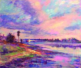 Mandar Wagholiar &nbsp&nbsp The paintings of the Bay Farm Bridge, above, and the USS Hornet, below, give but a sample of Mandar Wagholikar's talent as an artist.