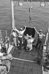 Photo courtesy &nbsp&nbsp&nbsp NOAA The whole science crew deploys a tucker trawl they used to collect specimens aboard the MV Fulmar during an ecosystem study cruise in 2010. A teacher at Alameda's Lincoln Middle School was selected to study the Pacific Ocean's ecosystem on the MV Fulmar this week.