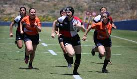 Courtesy Paul Rudman, www.usarugby.org &nbsp&nbap Above, members of college rugby teams compete at a very high level. Locals can learn the sport of rugby at a clinic hosted by the Alameda Riptide Aug. 3.