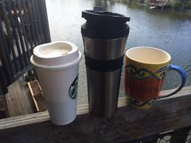 John Niec  Using plastic, steel or ceramic reusable coffee mugs is an easy way to reduce waste this Earth Day.