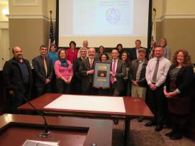 Courtesy photo  Members of the Public Works Department and the City Council celebrated the department's recent accreditation at the Jan. 17 Council Meeting.