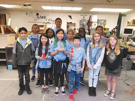 Courtesy Alameda Education Foundation &nbsp&nbsp Ruby Bridges Elementary School robotics teams took first, second and third places at a recent competition, shutting out all the other schools' teams.