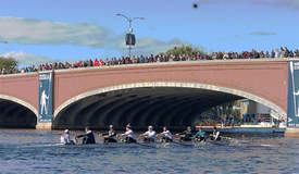 Courtesy photo &nbsp&nbsp Oakland Strokes rows the waters of the Charles River.