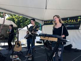 Mark Brueckman &nbsp&nbsp Alameda-based band Lorenzo Wood performed on the Alameda Stage this weekend at the Spring Festival.