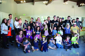 Courtesy photo &nbsp&nbsp Kids and adults crafted and sounded the ram's horn in preparation for the Jewish New Year at the recent Shofar Factory held by Chabad of Alameda.