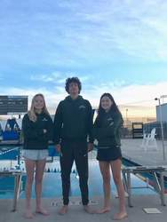 Rebecca Boles &nbsp&nbsp Sophie Klubes (left), Kevin Habek, (center) and Hannah Boles will compete in an all-star swim meet next month.