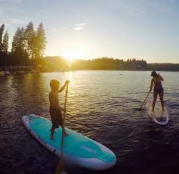 Courtesy photo  The water sport of paddleboarding is fun for the whole family. Try it locally next Thursday.