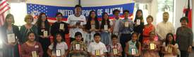 Jun de la Cruz &nbsp&nbsp&nbsp Outstanding local Filipino students display their awards along with Hon. Benjamin Reyes, UPA officers Janet Galera, Rufina Mejia and Norma de la Cruz, and keynote speaker Renee Macalino Rutledge.