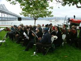 Courtesy urquhartband.org  A community service band, the Urquhart Memorial Concert Band of Oakland will perform for free, as it tends to do, this Saturday at Alameda's Cardinal Point.