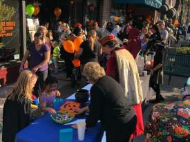 "Courtesy photo &nbsp&nbsp The 1500 block of Webster Street was bustling on Halloween as WABA hosted its annual ""Trick-or-Treat on Webster Street"" event."