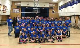 Courtesy photo  The Wood Middle School volleyball team raised some $600 to help low-income residents afford treatment for cancer.