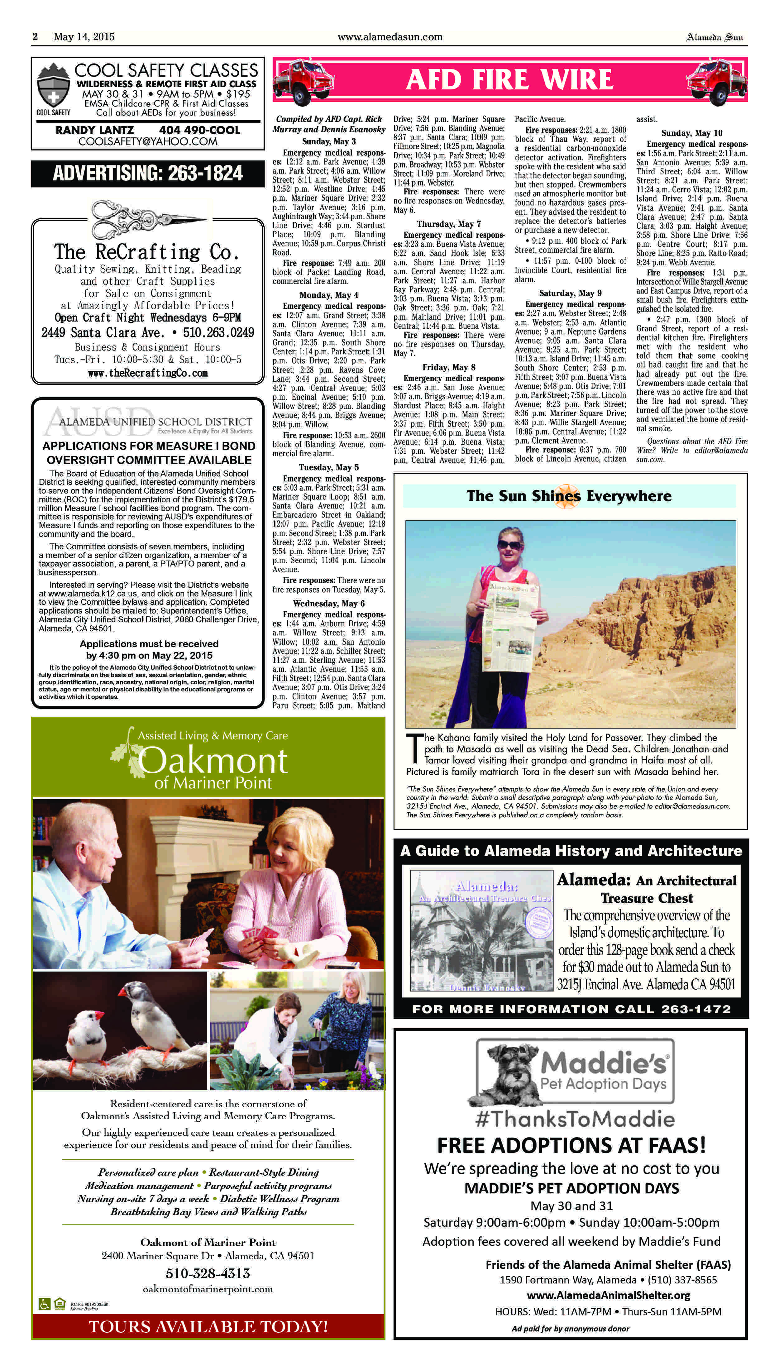 Free Talk Thursday May 14th In >> Print Edition For Thursday May 14 2015 Alameda Sun